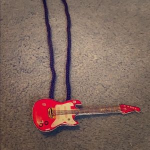 Electric Guitar 🎸 Red Lite Up Necklace Jewelry